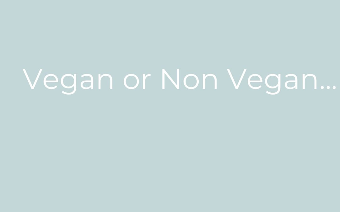 Vegan Diet vs Non Vegan Diet?